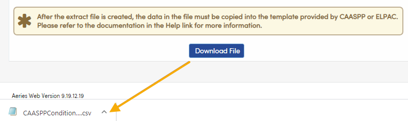 State Testing Export Files - CAASPP Student Condition Codes downloaded file