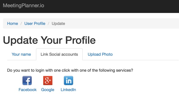 How do I login with my Facebook, Google or LinkedIn account