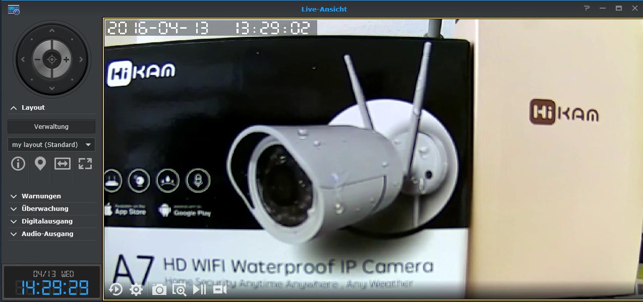 Überwachungskamera ONVIF SYNOLOGY QNAP : HiKam Support
