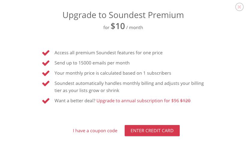 Upgrade to Premium Step2