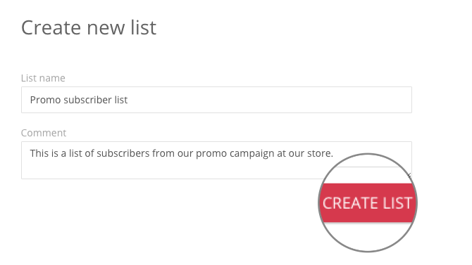 Create a list
