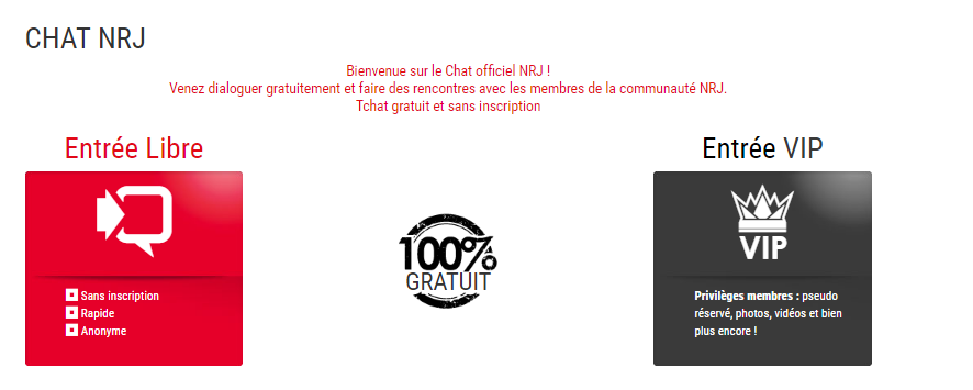 chat nrj mobile