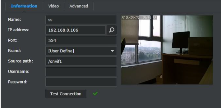 How to watch live streams with ONVIF clients(For A7 2016 Version