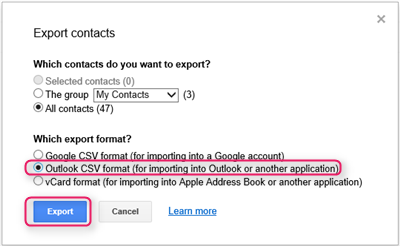 Importing contacts from Mailchimp, Gmail or Outlook : Guides & Tutorials
