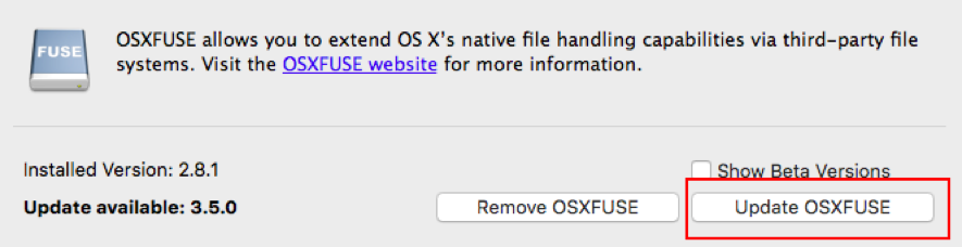 How to update FUSE for OS X : Colligo Support