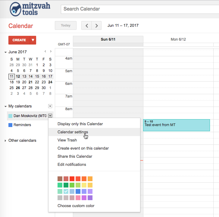Syncing Mt Google Calendar With Your Personal Calendar  Mitzvah