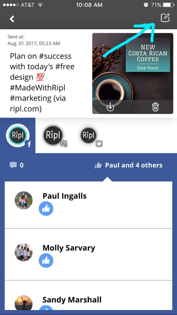 Please note that editing and re-sharing your post does not edit past posts  already on social media. To change past posts, you need to delete the post  on the ...