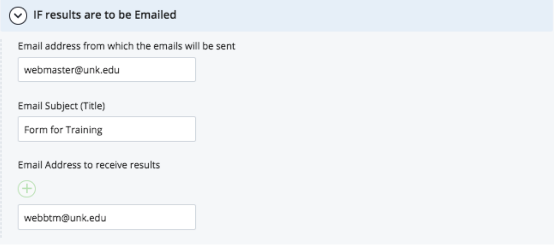 Sending to email controls