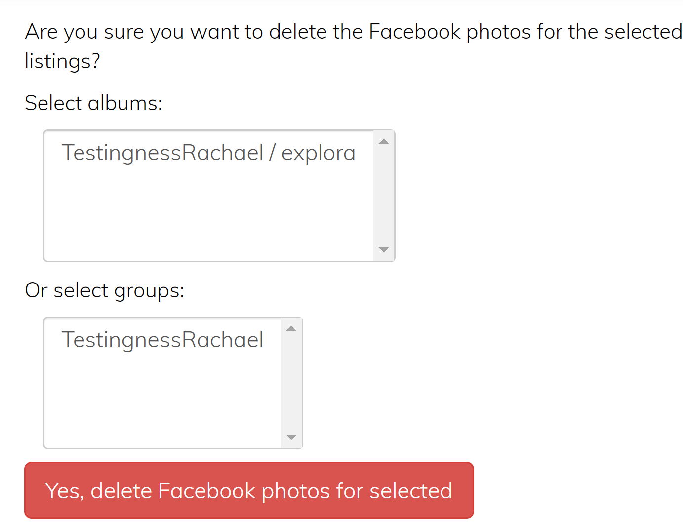 Delete Photos from Facebook (Video) : Sonlet Support