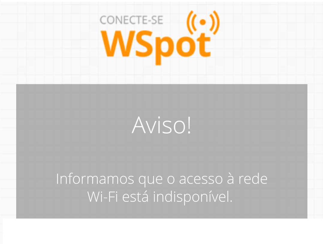 Wi-Fi indisponível