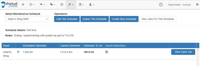 Using Odometer, Run Hours with Maintenance : Digital Matter