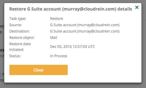 Restoring G Suite Backup Data3
