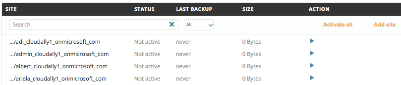 Activating a OneDrive Backup4.2