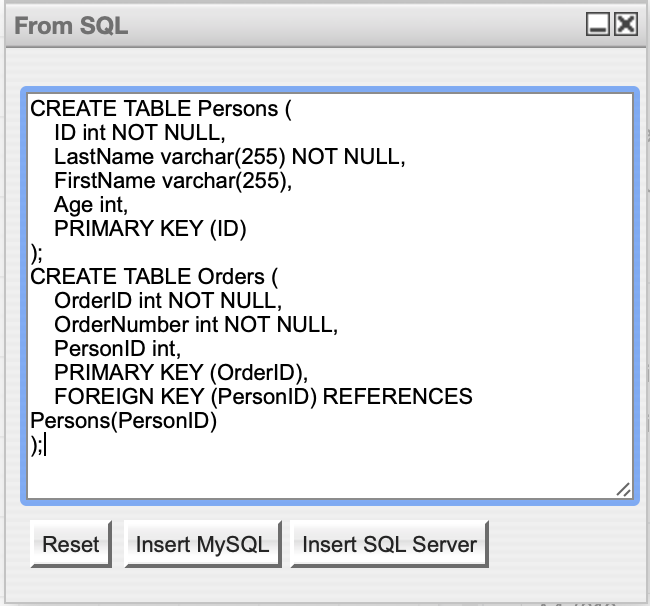 Use The Sql Plugin To Create An Entity Relationship Diagram Legacy Desk Do Not Use