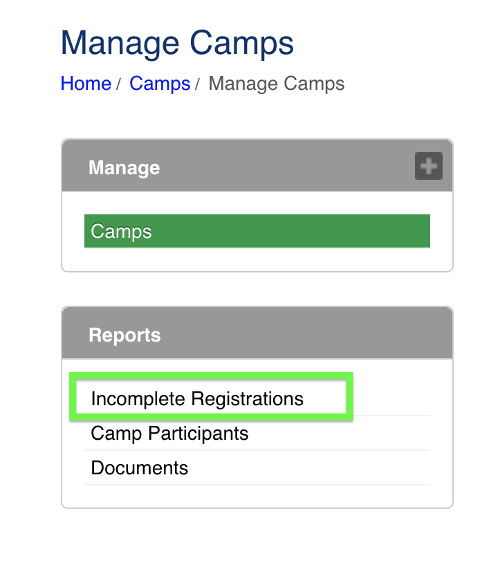 Manage camps