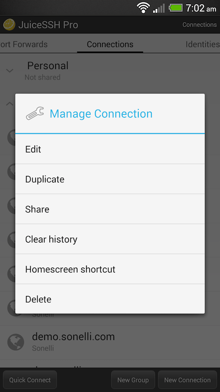 JuiceSSH - Free SSH client for Android
