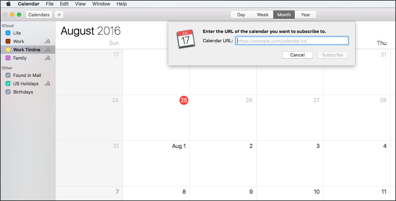 Google Calendar Url