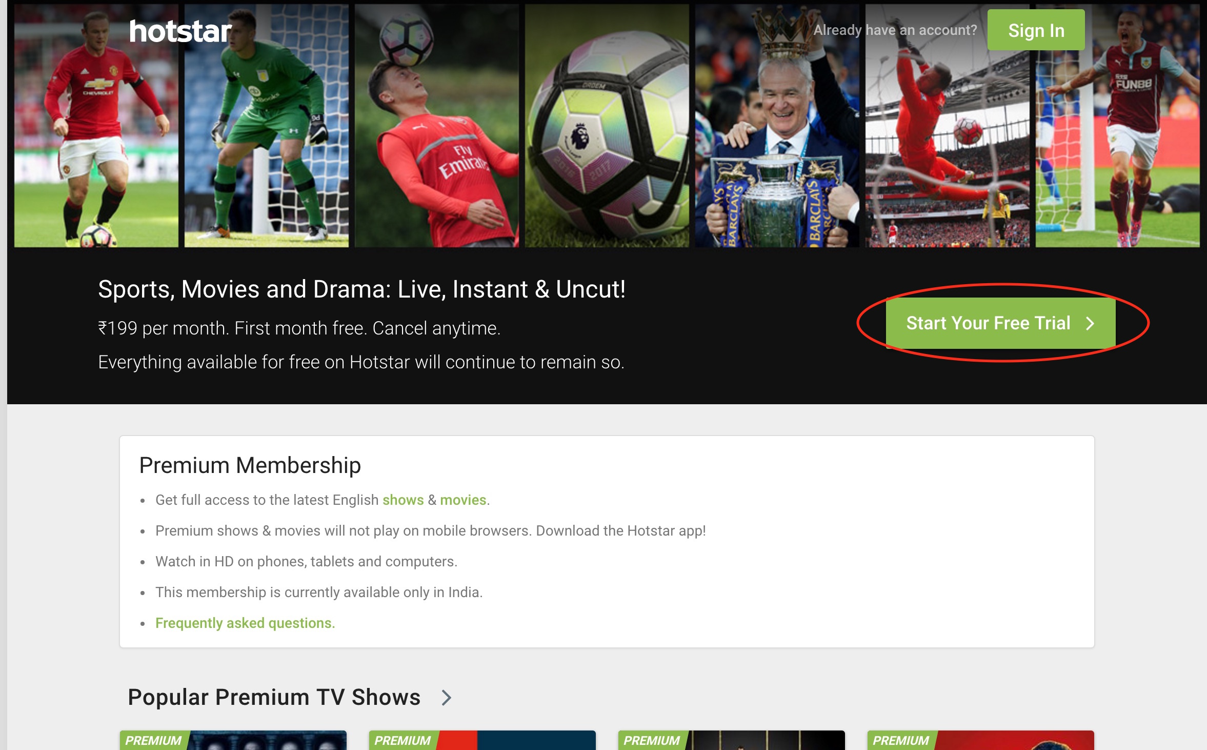How to sign up for hotstar premium : VanishedVPN