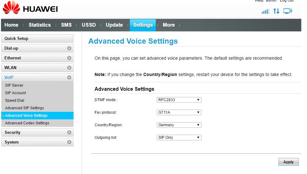 How do I set up a Huawei B315 with my Analogue phone? :