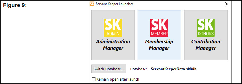 Servant Keeper Launcher window