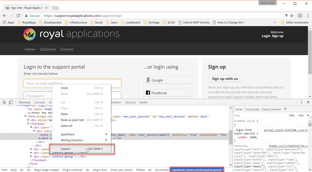 Auto Fill for Web Page Connections : Royal Applications