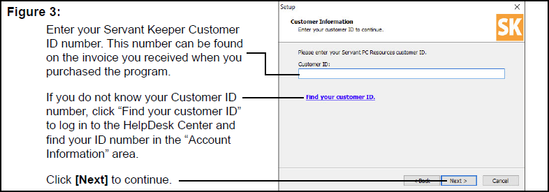 Customer Information window