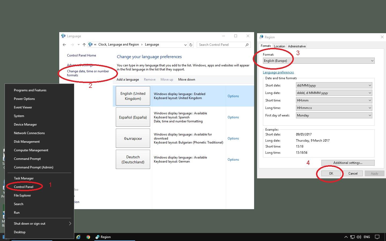 InPixio Installs in different language than English