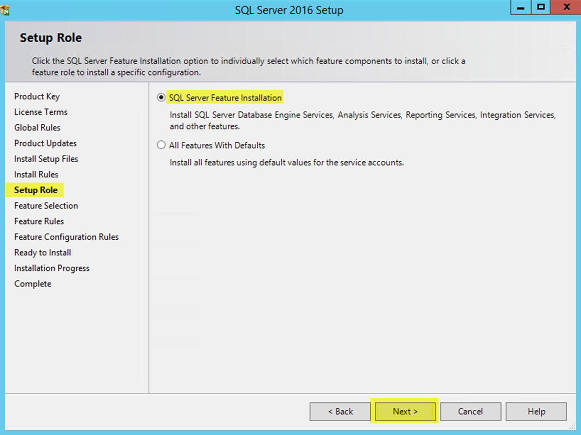 Install SQL on a Database Server for On-Premise/Private