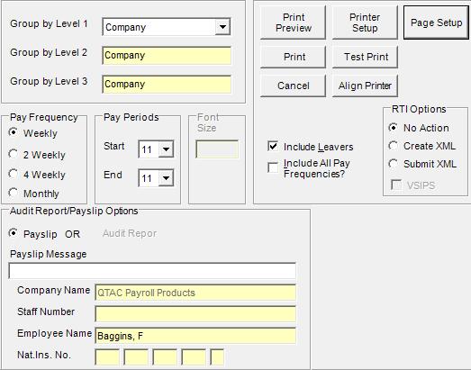 Reporting Options : QTAC Solutions Ltd