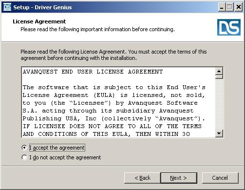 Install and register Driver Genius : Driver Genius EN