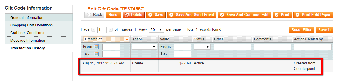 Commerce5 Gift Card/Store Credit Balance Check in Magento 1 : Red Rook