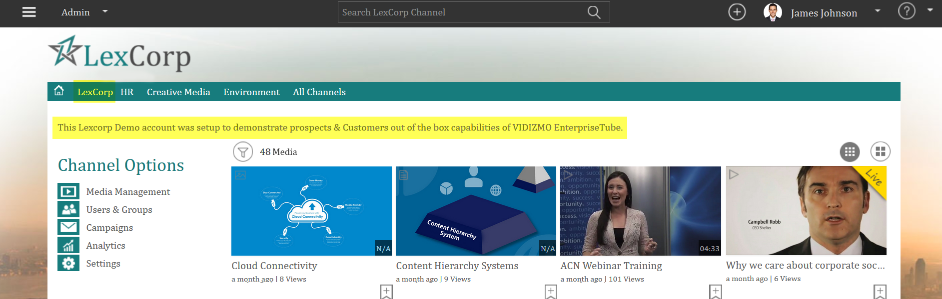 How To Change Channel Title And Description In Vidizmo