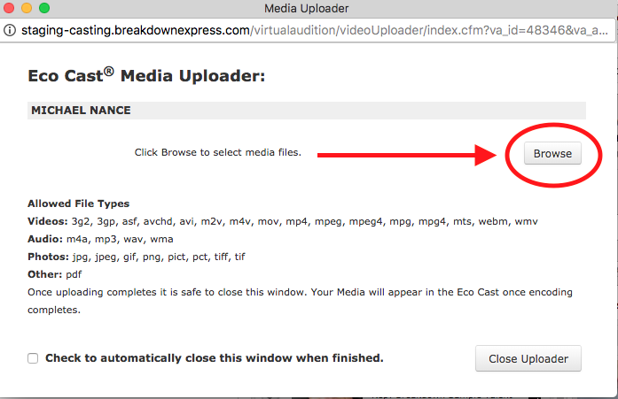 How to Upload Media to Eco Cast : Breakdown Express / Actors
