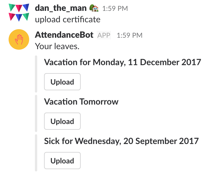 How Do I Upload Medical Certificates For My Sick Days Attendance Bot