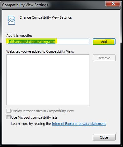 Airbus CBT on Windows 10 : LMS Helpdesk