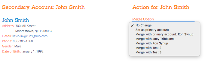 Merge Existing Accounts Or Change Primary Account In Profile