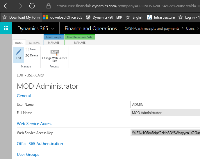 How to use Dynamics 365 Financials Business Edition API : Open Door