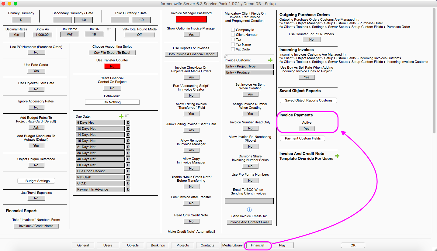 how to access invoicing module farmerswife