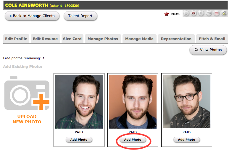 How to Add and Manage Actor Photos : Breakdown Express