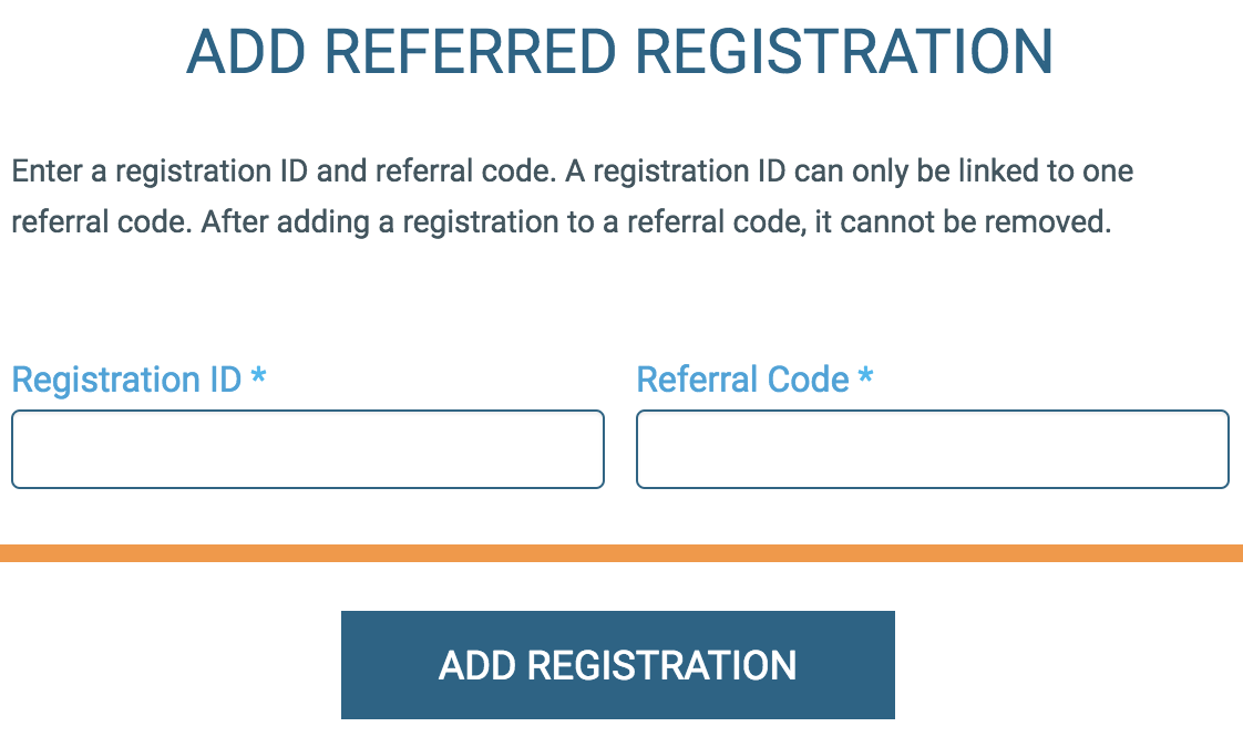 View/Manage Referral Codes : RunSignUp Helpdesk