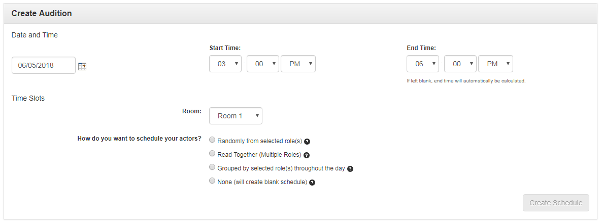 how to create a schedule breakdown express actors access solutions