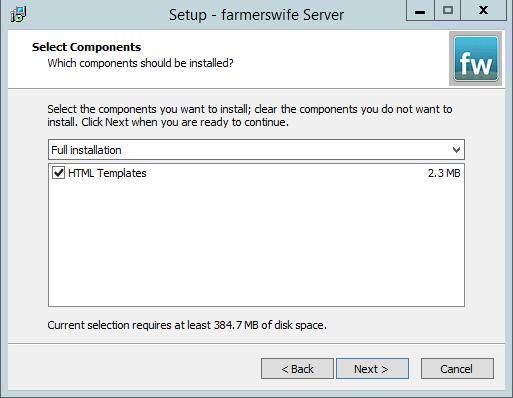 Server Installation on Windows : farmerswife