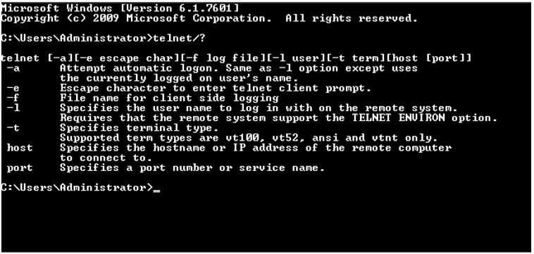 How to use telnet : Support Portal & Knowledge base