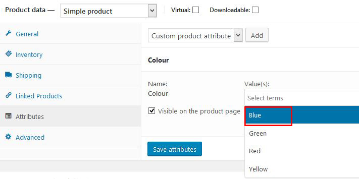 Product Attributes in WooCommerce : eBay LINK Support