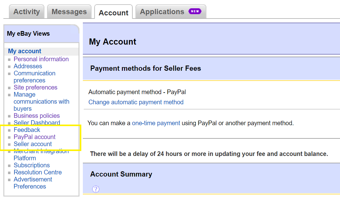 Link your PayPal account to your eBay Account : Omnivore Support