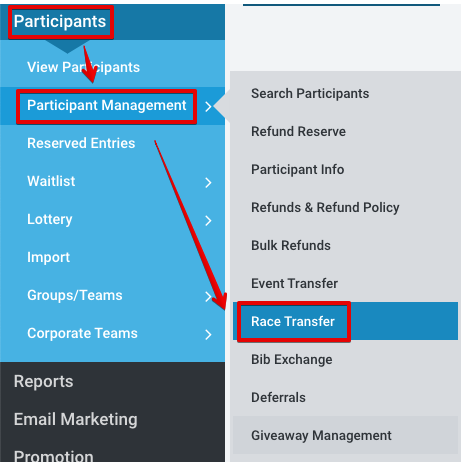 Allow Participants to Transfer to Different Race : RunSignUp Helpdesk