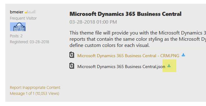 Microsoft Dynamics 365 Business Central Power BI Visual