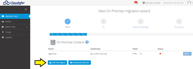 Migrating from On Premise to cloud guide : Cloudsfer Support