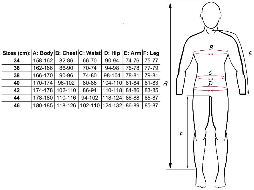 Størrelsesguide til dame