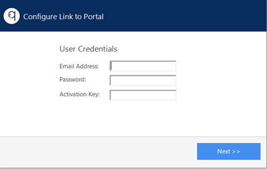 Screenshot to show portal sign up process